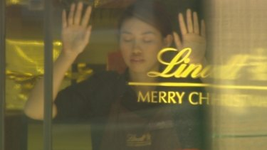 Elly Chen inside the Lindt cafe during the siege on December 15, 2014.