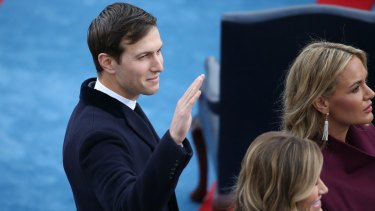 Jared Kushner arrives at the presidential inauguration on January 20, 2017.