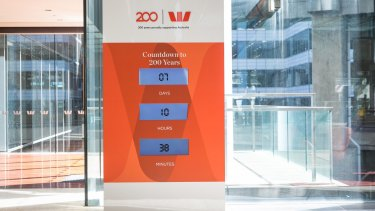 The countdown to Westpac's 200th anniversary on full display in the bank's Sydney headquarters.