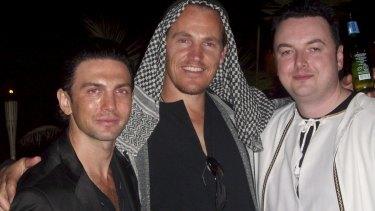 Henry Kaye, Jamie McIntyre and Konrad Bobilak at a fancy dress party.