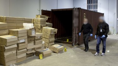 A mammoth 275 kilograms of ice was seized by a joint federal-state organised crime taskforce in June.