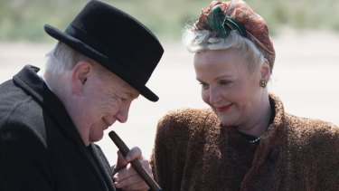 Brian Cox and Miranda Richardson in Churchill.