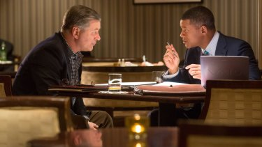 Alec Baldwin and Will Smith star in <em>Concussion.</em>