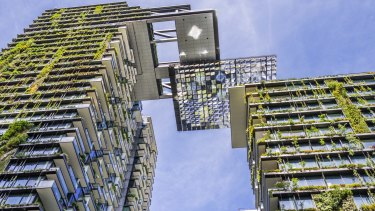 The One Central Park development at Broadway, Sydney, uses recycled water on its open space and green wall.