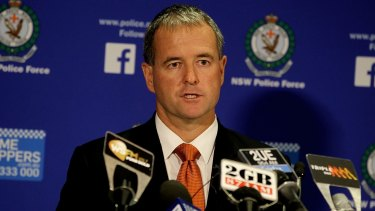 Detective Superintendent Michael Willing speaks to the media in Sydney on Monday.