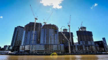Melbourne's apartment boom may 'freeze' the city.