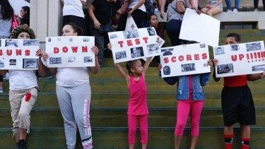 Anti-gun protest in Fort Lauderdale, Florida.