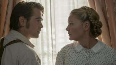 Colin Farrell as John McBurney and Kirsten Dunst as Ed in 'The Beguiled'.