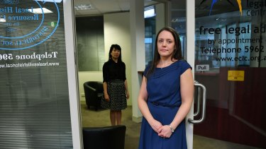 Yarra Ranges Community Legal Centre co-ordinator Anita Koochew (foreground), and principal lawyer Belinda Lo.