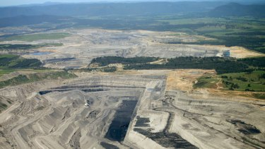Rio Tinto coal mine in the Hunter Valley, NSW