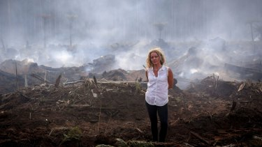 Conservationist Sarah Rees at the site of a planned burn in Narbethong.