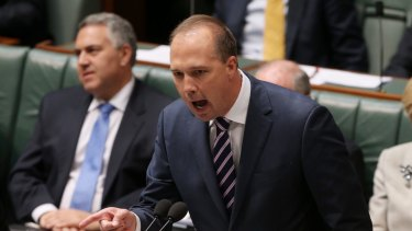 """Immigration Minister Peter Dutton claimed on Tuesday that """"I think there's a huge move by Fairfax at the moment to try and bring the government down."""