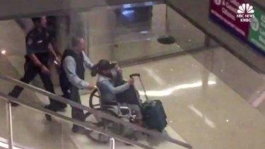 Marilou Danley, girlfriend of the Las Vegas gunman, arrived at Los Angeles International Airport.