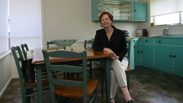 The 2005 picture of Julia Gillard which, with its empty fruit bowl, was used by critics to portray her as a single career woman bereft of personal connections. Liberal senator Bill Heffernan later questioned her fitness for leadership on the grounds that she was 'deliberately barren'.