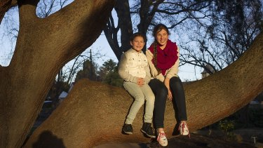 Brydie (9) and Jemima Taylor (13) at Bowral in the NSW Southern Highlands.