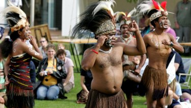 A Melbourne-based West Papuan dance group.