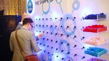 Mapping our future can be tricky: The CSIRO's  interactive installation at Creative Innovation 2016 in Melbourne.
