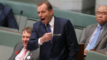 Former prime minister Tony Abbott hits back in Parliament.