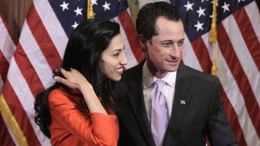 Split: Anthony Weiner and Huma Abedin.