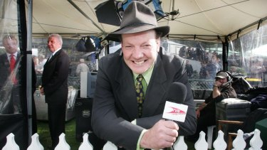 All smiles on camera: Tony Rickards of racing channel TVN.
