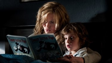 The Babadook, starring Essie Davis as a widowed mum bringing up son Sam (Noah Wiseman).