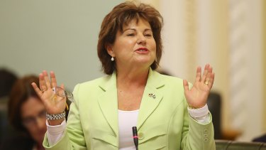 Police Minister Jo-Ann Miller talks during Question Time on June 3.