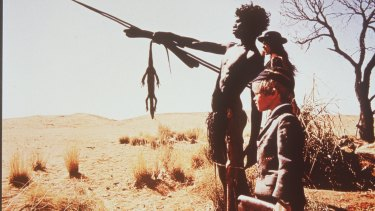 David Gulpilil, Jenny Agutter and Lucien John in Walkabout (1971).