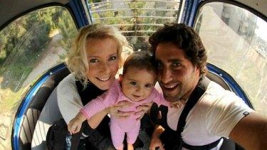Separation: Sally Faulkner and former husband Ali El Amine.