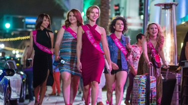 Party time: Zoe Kravitz, Jillian Bell, Scarlett Johansson, Illana Glazer and Kate McKinnon in <i>Rough Night</i>.