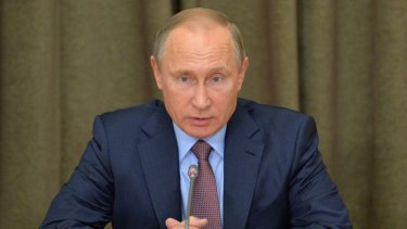 Russian President Vladimir Putin wants to restrain the West.