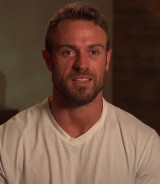 """US Bachelorette contestant Chad Johnson also earned the title """"bad boy"""" after threatening other male contestants with assault."""