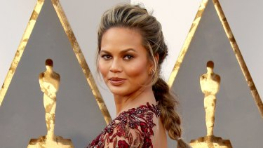 Chrissy Teigen attends the 88th Annual Academy Awards earlier this year.