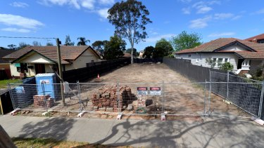 The block levelled by Dea and Darren Jolly in East Kew, Melbourne.