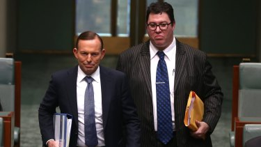 George Christensen, right, with Prime Minister Tony Abbott earlier this month.