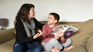 Carly Landa home schools her son Louie, who is on the autism spectrum and suffers anxiety.
