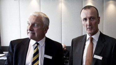 "Prime chairman John Hartigan (left) and chief executive Ian Audsley: ""Regional television remains under revenue pressure at both national agency and local sales levels."""