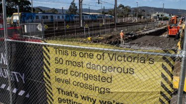 Fifty level crossings are being removed across Melbourne.