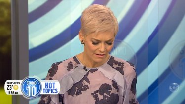 'It pre-empted then a very dark period in my life' ... A visibly upset Jessica Rowe has spoken about how hurtful the saga at Nine Network was in 2007.