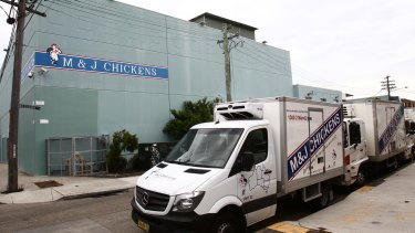M&J Chickens in Marrickville owns 19 vans and trucks to run deliveries through the day.