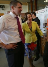 Premier Mike Baird and Early Childhood Minister Leslie Williams.
