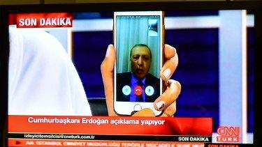 President Recep Tayyip Erdogan used Facetime to speak to the Turkish people.