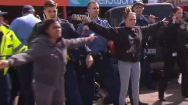 Hayley Garlett and her mother became a symbol of peaceful protest amid the Kalgoorlie riots.