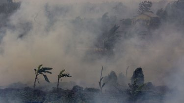 Indonesian fires, made worse by last year's El Nino, are partly to blame for a jump in global greenhouse gas levels.