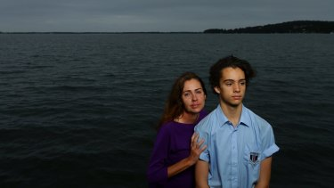 Nicole Charlesworth and her son Nick, who is a student at Toronto High School.