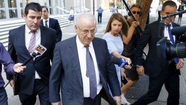 Eddie Obeid outside the NSW Supreme Court shortly before he was jailed in December 2016.