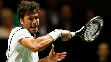 Shocked: Robin Haase of the Netherlands.