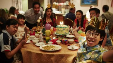 Benjamin's humiliating 14th birthday party re-enacted in The Family Law.