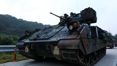 Analysts say the US is unlikely to start a war without a direct attack from North Korea.