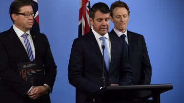 NSW Premier Mike Baird and Deputy Premier Troy Grant reveal the findings of the Special Commission of Inquiry report on Thursday afternoon.