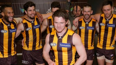 Blake Hardwick made his debut for Hawthorn, after Cyril Rioli pulled out.